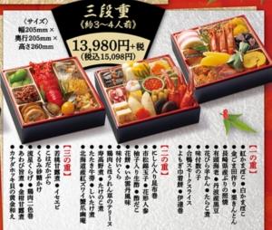 はま寿司のおせち「三段重」