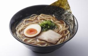 2016年5月26日、2017年10月5日より期間限定で販売された、はま寿司の「荒ぶし醤油ラーメン」